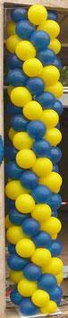 Ballonsäule auf Metallständer