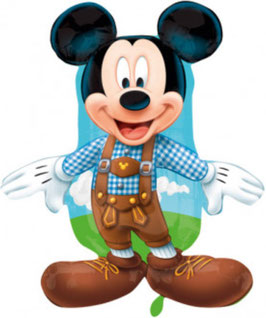 Folienballon Mickey in Lederhosen