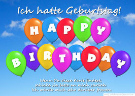 "Weitflugkarte ""Happy Birthday"""