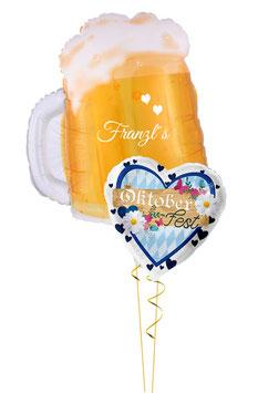 Ballon - Bouquet: Oktoberfest mit Bierkrug