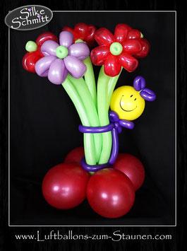 Luftballon-Blumenstrauß mit Smiley