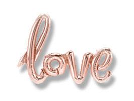 """Ballon Buchstaben Schriftzug  """"love"""""""