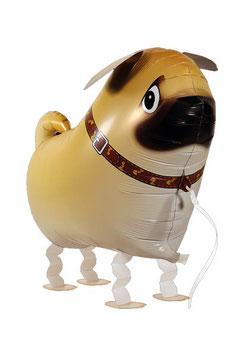Airwalker: Tier-Luftballon Hund Mops