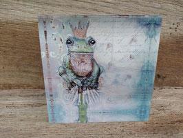 Froggy auf Pusteblume