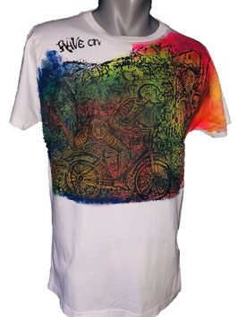T-SHIRT ART RAVE ON PSY 003