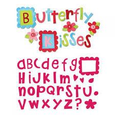 Fustella alfabeto Butterfly kisses 656775