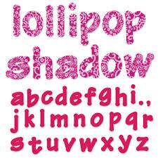 Fustella alfabeto Lollipop minuscolo 660112