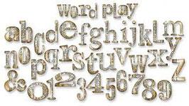 Fustella alfabeto Word Play Tim Holtz 657837