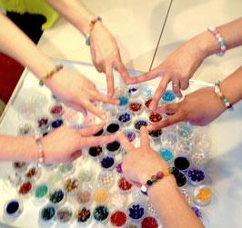 残1【11/17奈良】屋久杉富士溶岩天然石ブレスレット作り体験・祭壇作りワーク付き
