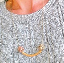 """collier"""" suzy """" doré - version Smiley :)"""