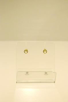 Earring - silver gold plated #5