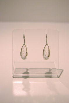 Earring with stone - Silver #1