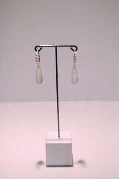 Earring with stone - Silver #8