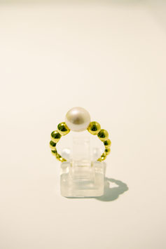 Ring with pearl - gold #1