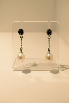 Earring with pearl - silver #20