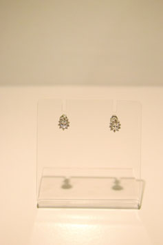 Earring with stones - silver #11