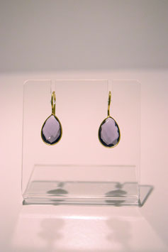 Earring with stone - gold plated #1