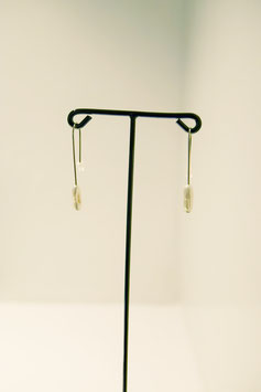 earring with pearl - silver #22