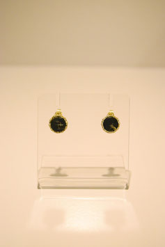 Earring with stone - gold #2