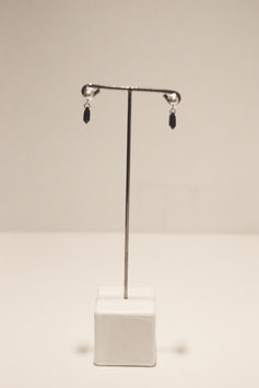 Earring with stones - silver #12