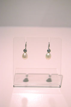 Earring with pearls - silver #7