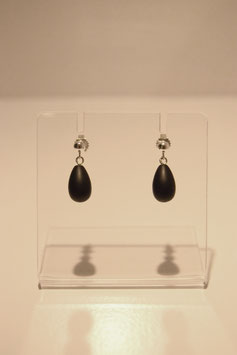 Earring with stones - silver #15
