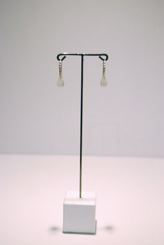 Earring with stone - Silver #5