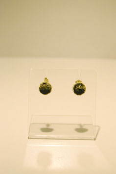 earring with stone - gold #1