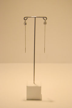 Earring with stones - silver #20