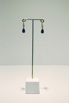 earring with stone - Silver #7