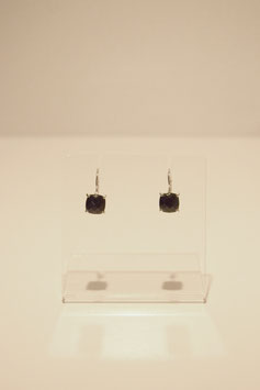 Earring with stones - silver #18