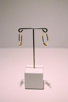 Earring - silver gold plated #1