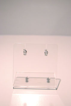 Earrings with pearls - silver #3
