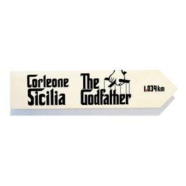 Sicilia (the Godfather, El Padrino) distancia a Corleone
