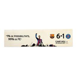 Barcelona, FCB, 6-1 PSG en Camp Nou, especial remontada histórica (varios diseños)
