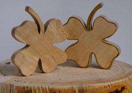 Kleeblatt aus Holz - Glücksklee - UNIKATE