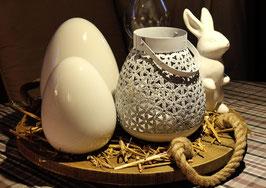 Ei Keramik weiß
