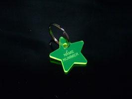 Schlüsselanhänger Stern mit Wunschtext