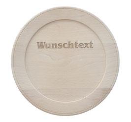 Holzteller inkl.  Motiv und Wunschtext