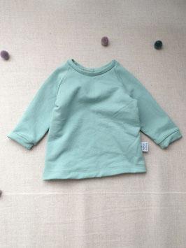 Bio Baumwolle Sweat Langarm Shirt Mint