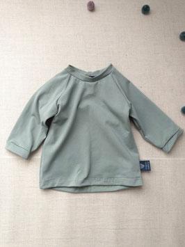 Bio Baumwoll Jersey Langarm Shirt Altmint