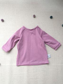 Bio Baumwoll Jersey Langarm Shirt Mauve