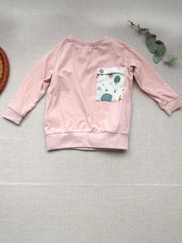 Bio Baumwoll Jersey Langarmshirt mit Tasche