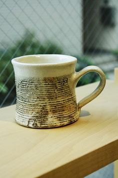 渕荒横彫 デミタス型マグカップ