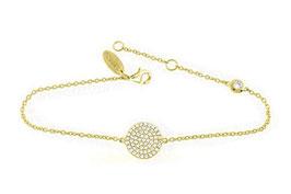 LEPOSA Silber Armband Kreis gelb