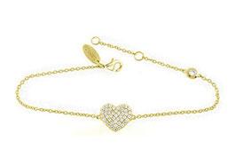 LEPOSA Silber Armband Herz gelb