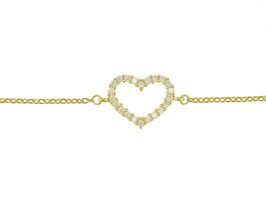 LEPOSA Gelbgold Armband Herz