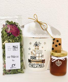 Geschenkset mit Tasse, Biotee & Biohonig