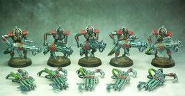 Immortels Nécrons modulables (5 figurines peintes)