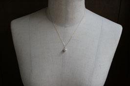 K18 ダイヤ入りあこや真珠ネックレス